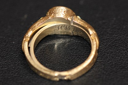Mourning ring with hair bandIMG_3556