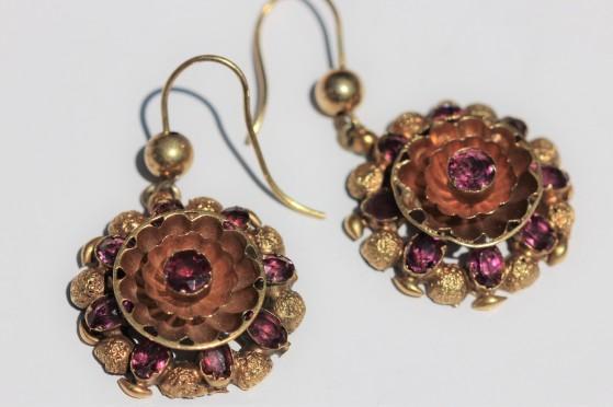 antique gold and garnet earringsIMG_4117