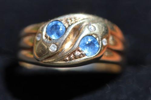 sapphire snake ring 1IMG_3847