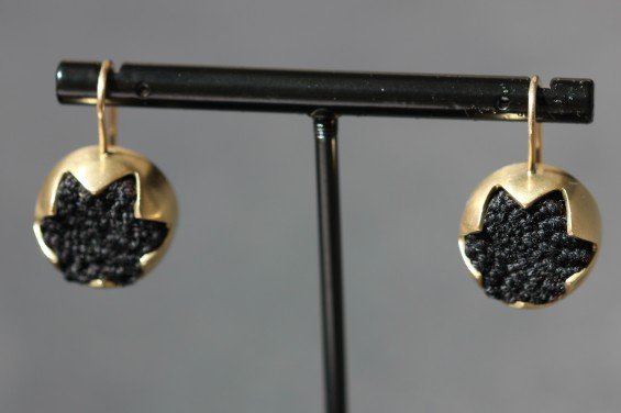 gold and black earringsIMG_4358