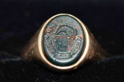 antique bloodstone intaglio ring (at Camberwell Antique Centre)IMG_5061