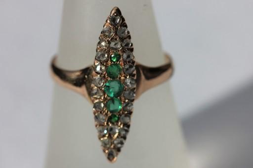 emerald navette ring 1IMG_5975