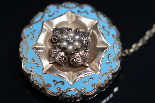 blue enamel brooch 1IMG_4705