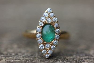 Antique emerald marquise ringIMG_7329